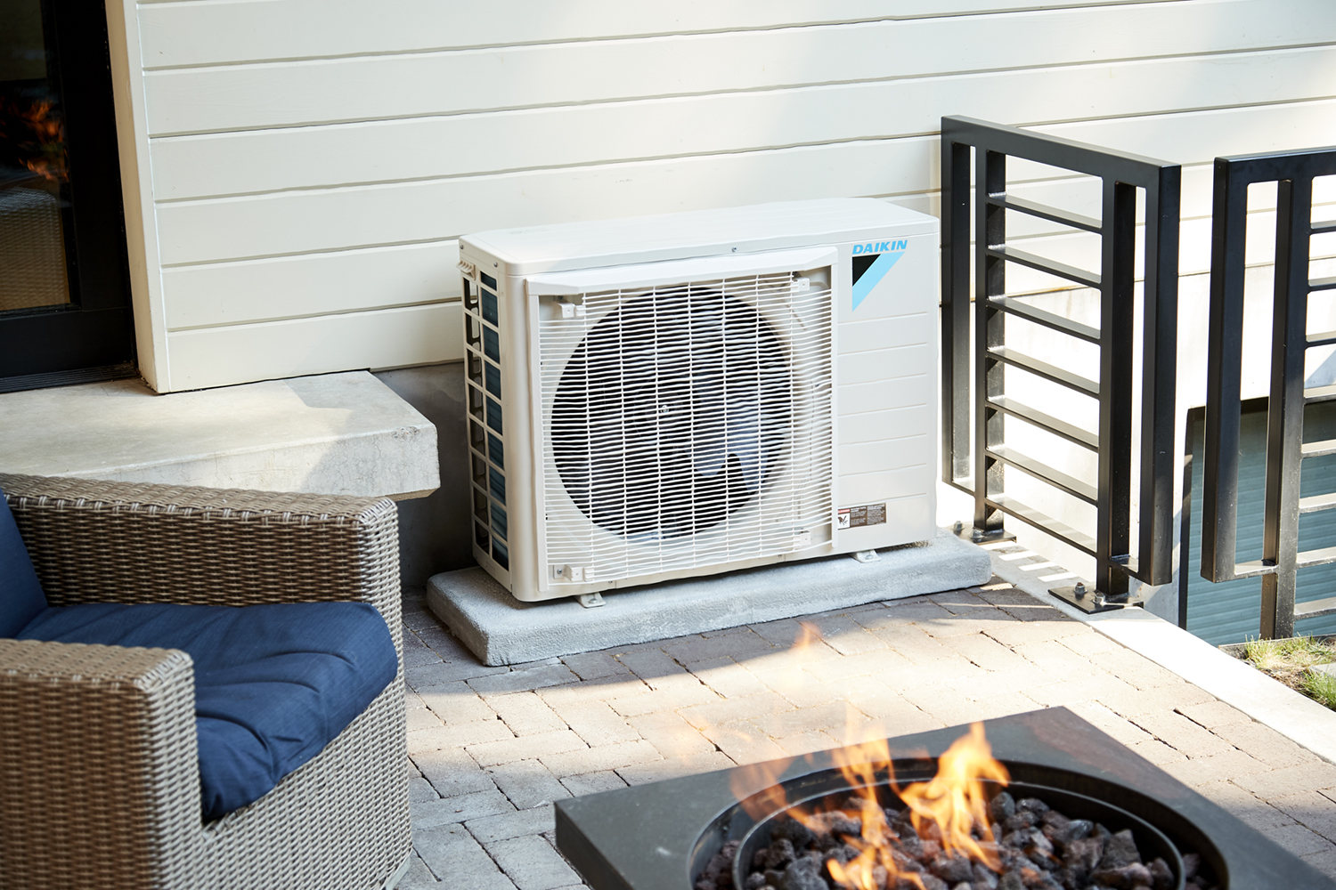 Daikin fit outside home