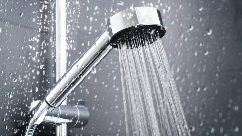 shower head with soft water